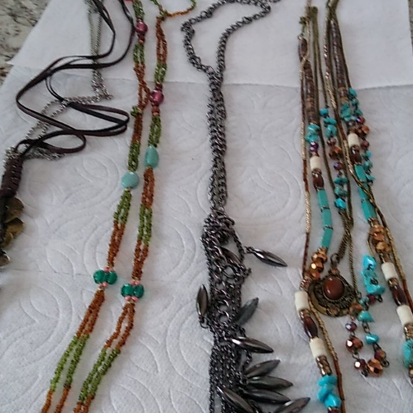 Buckle Necklaces Lot of 4